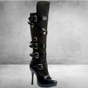 Leg Avenue Ellie Black Sexy Boots